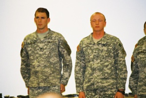 Gareth Almberg's North Dakota National Guard Ceremony