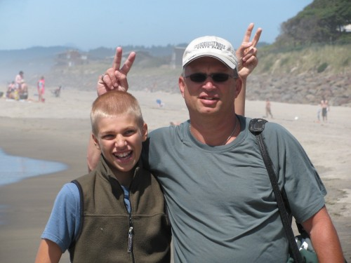 Colin and Ron at Neskowin Beach, Oregon