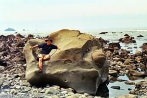 Ron on Giant Rock Seat