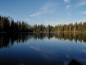 Indian Heaven Wilderness, Deep Lake, Washington State, October 2001