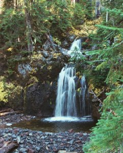 Indian Heaven Wilderness Waterfall, Summer 2002