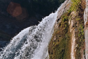 Water Fall Shot at Horsetail Fall, Mount Rainier National Park, Summer 2003