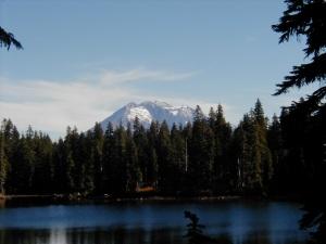 Deep Lake and Mount Adams, Indian Heaven Wilderness, Fall 2001