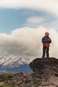 Colin Almberg and Mt. Hood, July 2003
