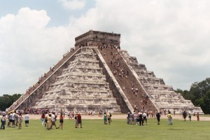 Mayan Temple at Chichen Itza, July 2003