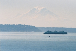 Seattle Ferry and Mt. Rainier, June 2007