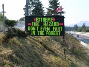 Extreme Forest Fire Hazard
