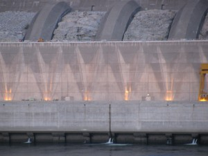 Grand Coulee Dam at Night, Summer 2009
