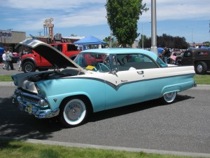 Classic Car, Cool Desert Nights, Richland, Washington, June 2010
