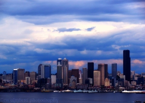 Dark Clouds Forming Over Seattle, June 2010