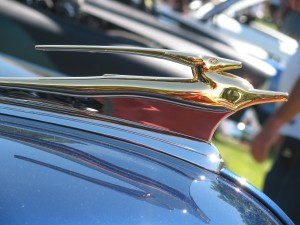 Classic Chevy Impala Hood Ornament, Cool Desert Nights Auto Show, Richland, June 2010