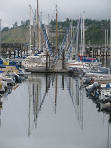Moored Sail Boats, Port Townsend, Washington, July 2010