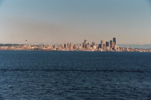 Seattle Skyline from Elliot Bay, Summer 2003