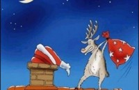 Reindeer Helping Santa Claus