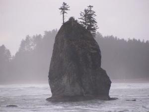 Rock Island in Mist