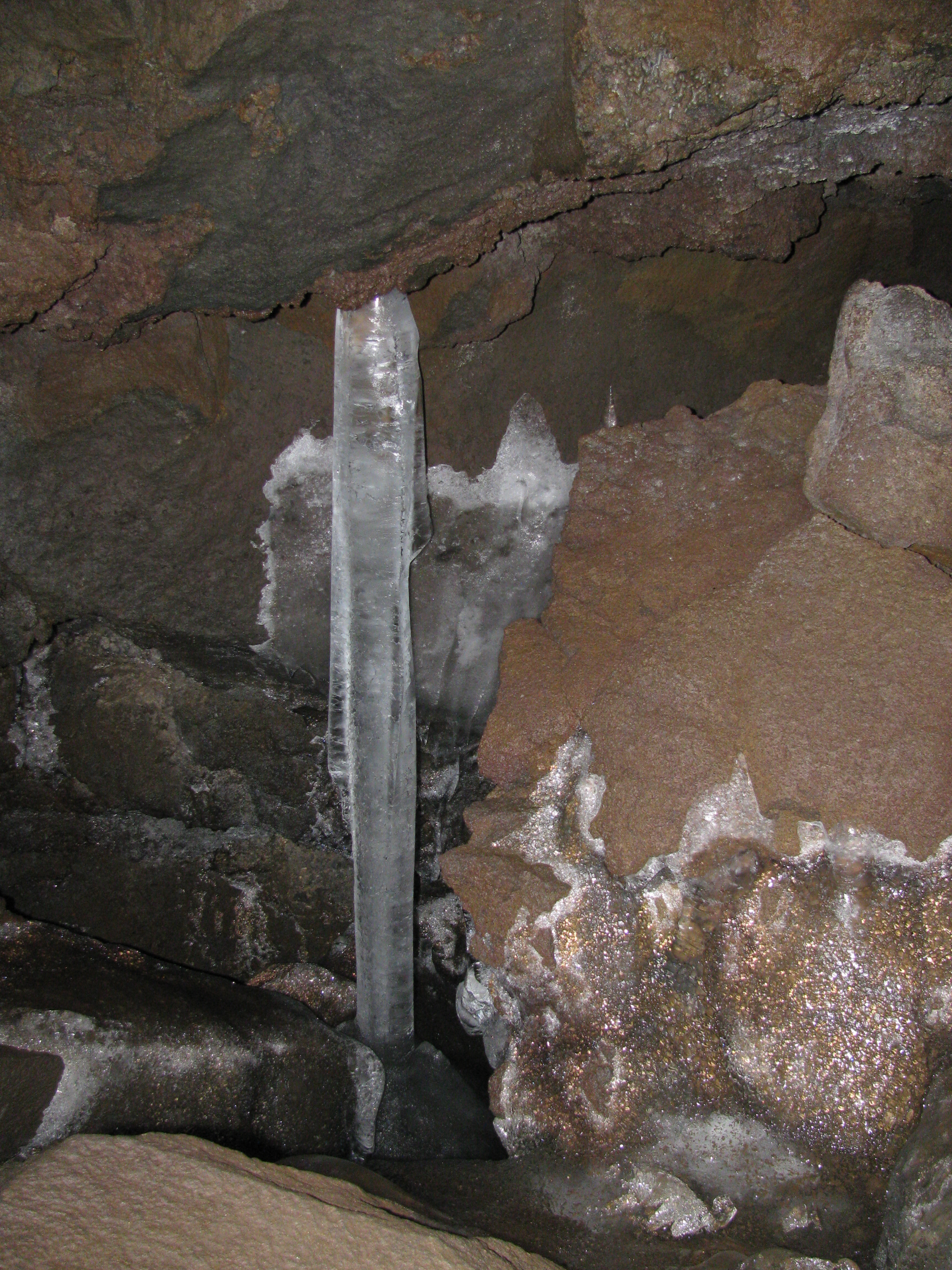 Ice Pillar formed in the Ice Cave